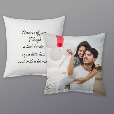 Valentines day photo pillow