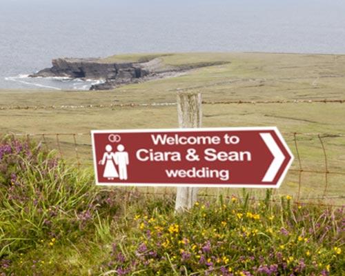 Wedding Road Signs Printpoint Order Direction In Ireland Dublin Cork
