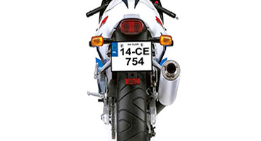 bike legal number plate