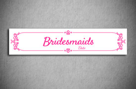 Bridesmaids number plate