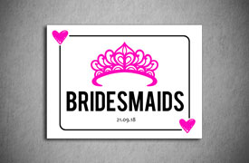 Bridesmaids number plate square