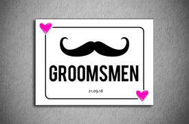 Groomsmen number plate square