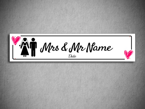 Super Personalised wedding number plates - Printpoint.ie QZ61