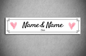 Personalised wedding number plates printpoint just married number plate maxwellsz