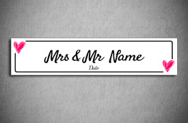 Personalised wedding number plates | printpoint order just.