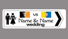 Wedding road Signs
