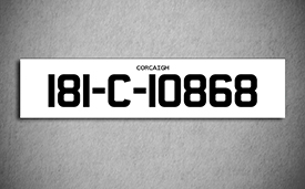 Car Show Number Plate Long 2