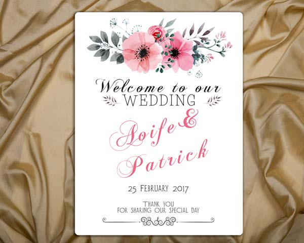 wedding welcome sign 12x16
