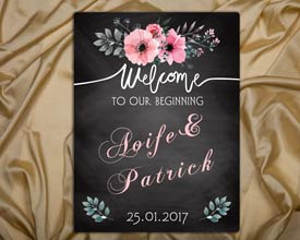 welcome wedding sign 12x16