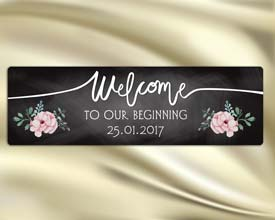 wedding welcome sign 20x6