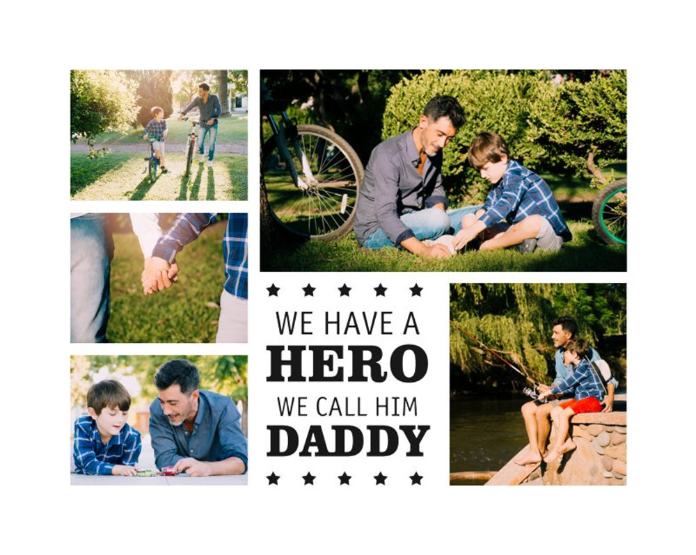 Template Father 10 4-5 5pics.psd