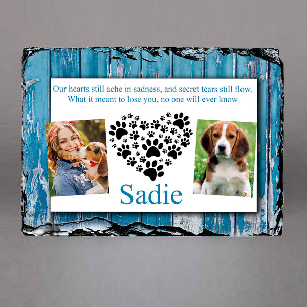 Personalized pet memorial plaques Ireland