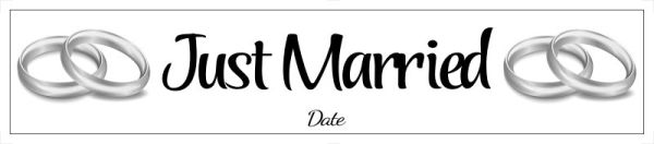 Just married number plate Template 32