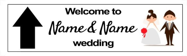 Funny wedding directional signs - Couple
