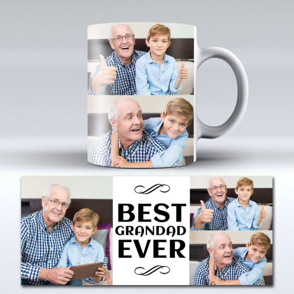 Best grandad ever photo mug