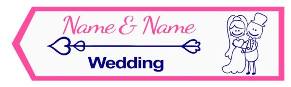 Wedding road sign funny style Template #21 Left