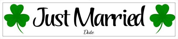 Just married number plate Template 33