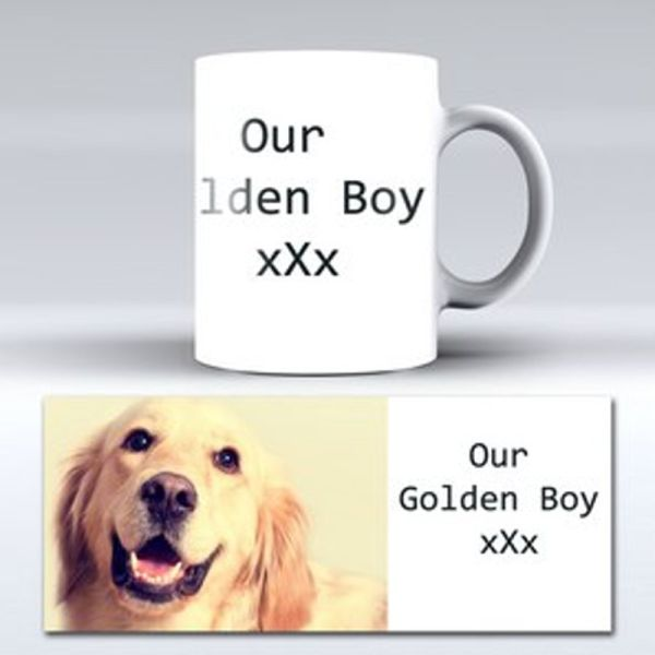 Pet personalised photo mug | Printpoint