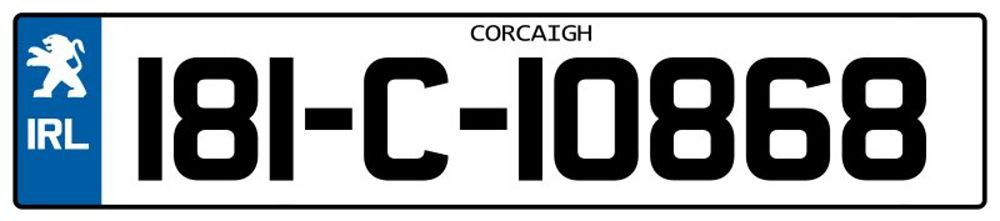 Ireland-Number-Plate-Long13.psd