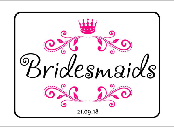 Girls wedding car number plate template 4