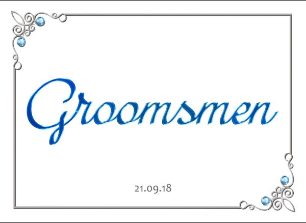 Groomsmen wedding car plate template 7