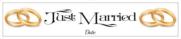 Just married number plate Template 30