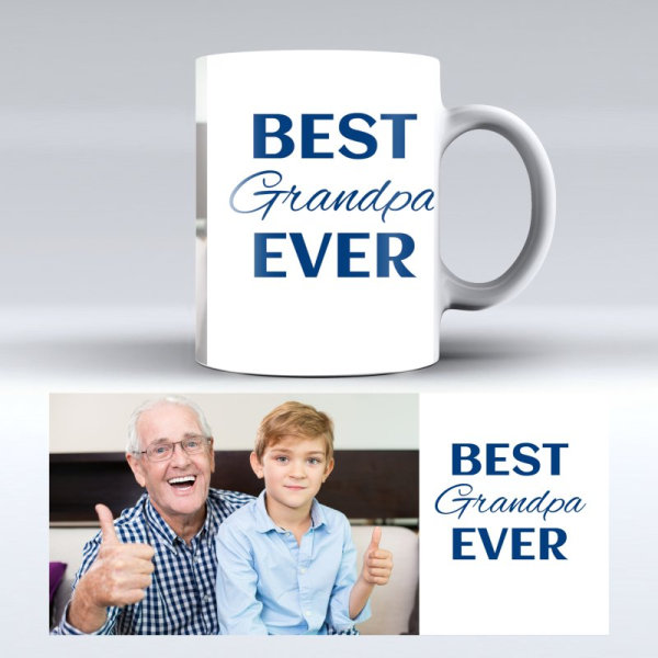 Personalised photo mug for Grandfather