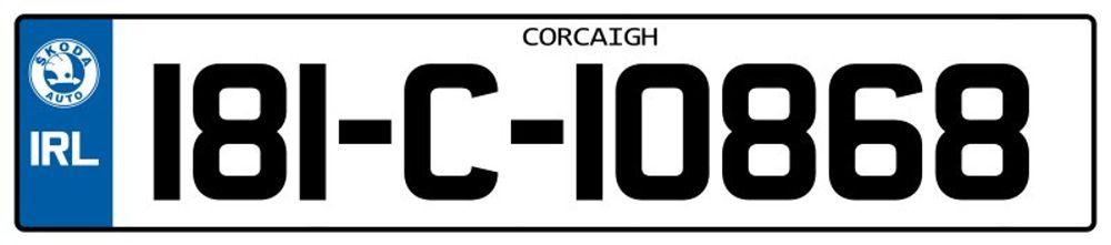 Ireland-Number-Plate-Long15.psd