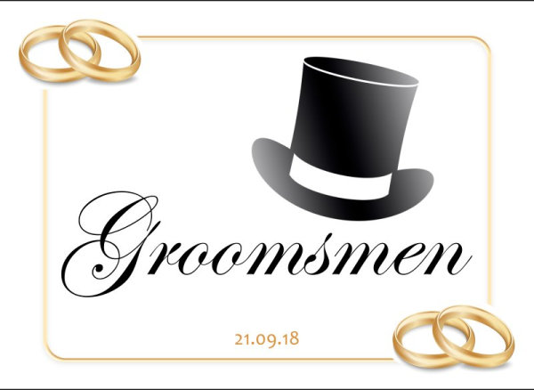 Groomsmen wedding car plate template 5