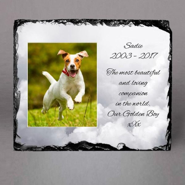 Personalised dog memorial stones garden I Printopoint