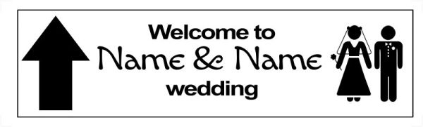 Wedding directional signs template| Printpoint