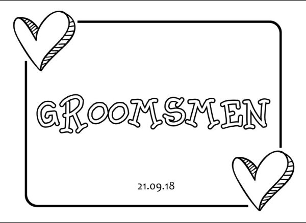 Groomsmen wedding car plate template 3