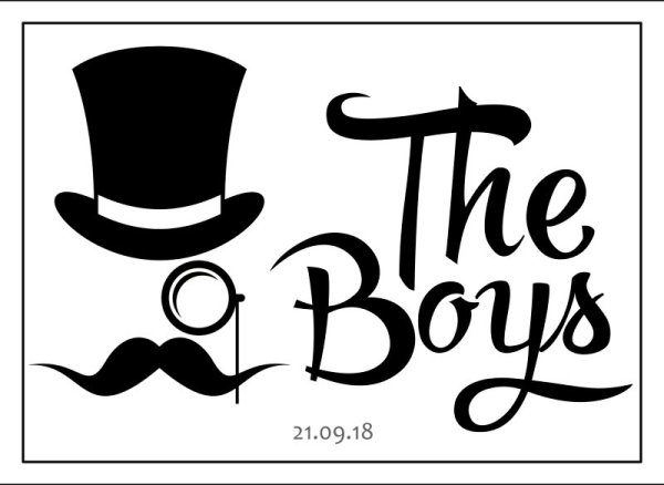 Groomsmen wedding car plate template 9