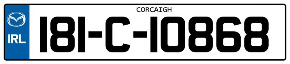 Ireland-Number-Plate-Long11.psd