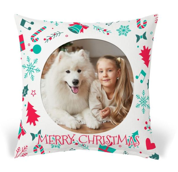 Photo cushion gift template - Christmas 08