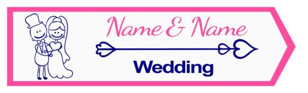 Wedding road sign funny style Template #21 Right
