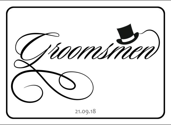 Groomsmen wedding car plate template 6