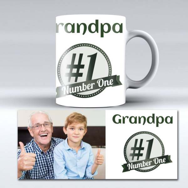 Personalised photo mug for Grandpa